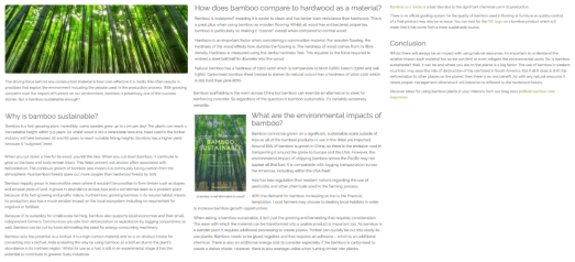 Bamboo sustainability article by Nicola Hasted health & tech writer