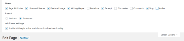 Screen Shot how to edit excerpts on WordPress